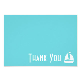 Sailboat Thank You Note Cards (Teal) 9 Cm X 13 Cm Invitation Card