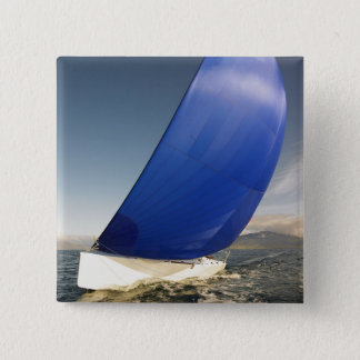 Sailboat Tipping In Wind 15 Cm Square Badge