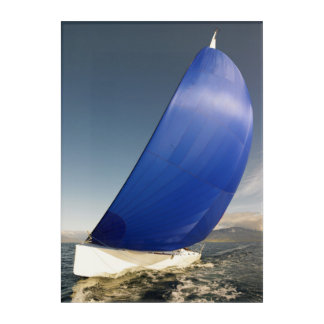 Sailboat Tipping In Wind Acrylic Print