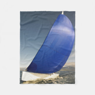 Sailboat Tipping In Wind Fleece Blanket