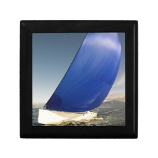 Sailboat Tipping In Wind Small Square Gift Box