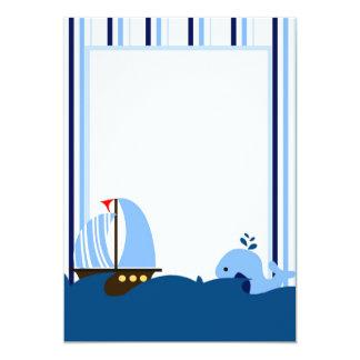 Sailboat & Whale Invitation