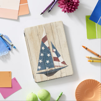 Sailboat With American Flag iPad Air Cover