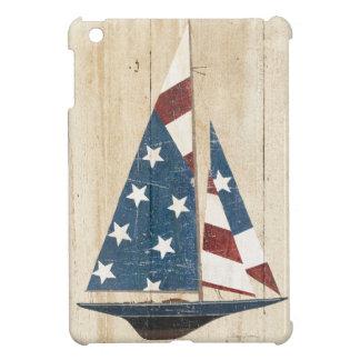 Sailboat With American Flag iPad Mini Covers