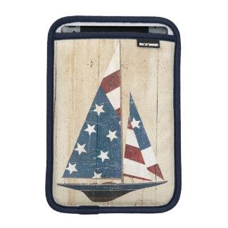Sailboat With American Flag iPad Mini Sleeve