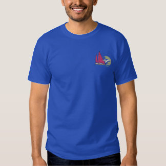 Sailboat with gull embroidered T-Shirt