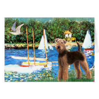 Sailboats - Airedale Terrier (#6) Greeting Card