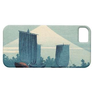 Sailboats and Mount Fuji iPhone 5 Case