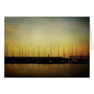 Sailboats and Sunrise note card