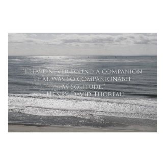 Sailboats and Thoreau quote Posters