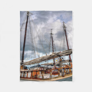 Sailboats Are Docked In The Key West Harbor Fleece Blanket
