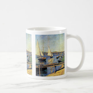 Sailboats At Argenteuil By Caillebotte Gustave Basic White Mug