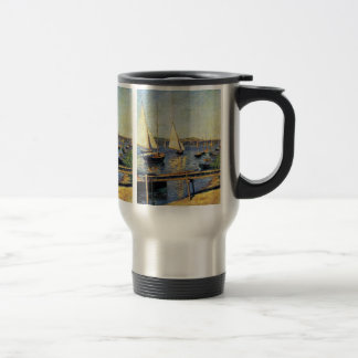 Sailboats At Argenteuil By Caillebotte Gustave Travel Mug
