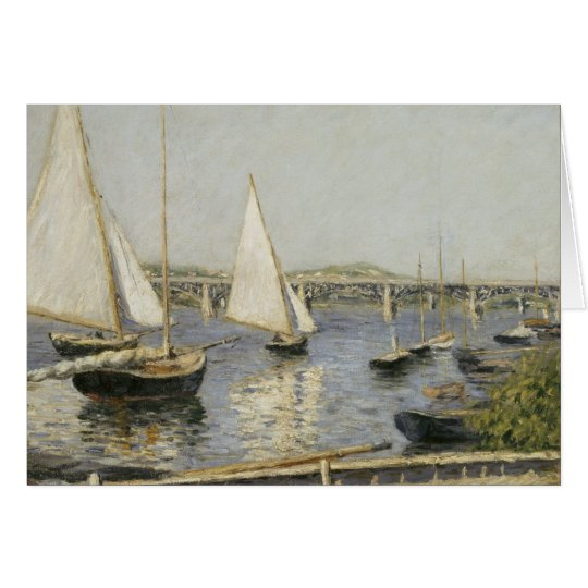 Sailboats at Argenteuil by Gustave Caillebotte Card