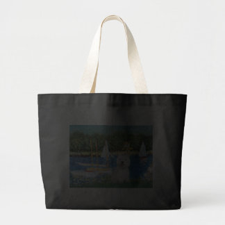 Sailboats at Argenteuil - Westie 2 Canvas Bags