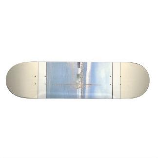 Sailboats at Dawn Art Skateboard