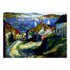 Sailboats by the Harbour, fine art painting Poster