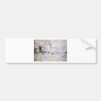 Sailboats - Claude Monet Car Bumper Sticker