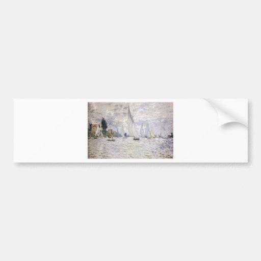 Sailboats - Claude Monet Bumper Stickers