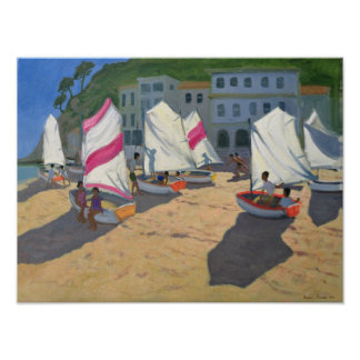 Sailboats Costa Brava 1999 Poster