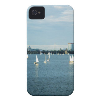 Sailboats in a river, Charles River, Boston, 2 iPhone 4 Case-Mate Case