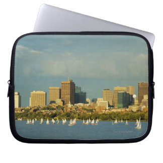 Sailboats in a river, Charles River, Boston, Computer Sleeve