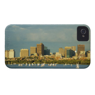 Sailboats in a river, Charles River, Boston, iPhone 4 Cover