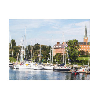 Sailboats in Annapolis Maryland Canvas Print