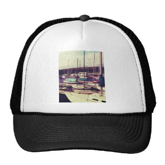 Sailboats In Dock Cap