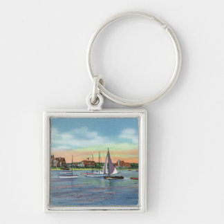 Sailboats in Lewis Bay, Englewood Beach View Key Ring