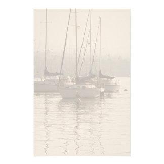 Sailboats in Marina Stationery