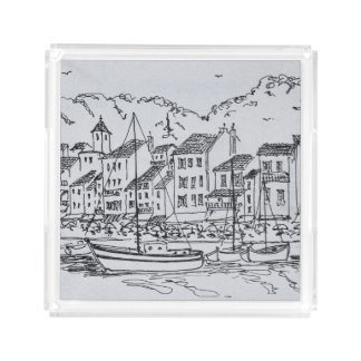 Sailboats in the Harbor | Cassis, France Acrylic Tray