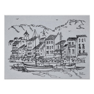 Sailboats in the Harbor | Cassis, France Poster