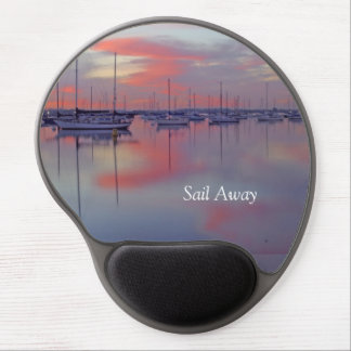 Sailboats in the Sunset Gel Mousepad