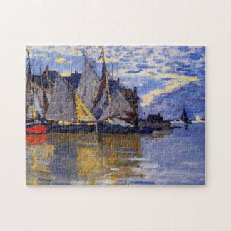 Sailboats Monet Fine Art Jigsaw Puzzle