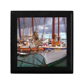 Sailboats Morred At Key West Gift Box