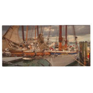 Sailboats Morred At Key West Wood USB Flash Drive
