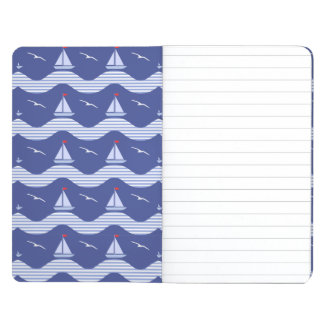 Sailboats On A Striped Sea Pattern Journals