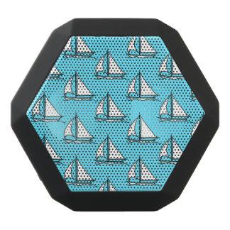 Sailboats On Blue Sea Pattern Black Bluetooth Speaker