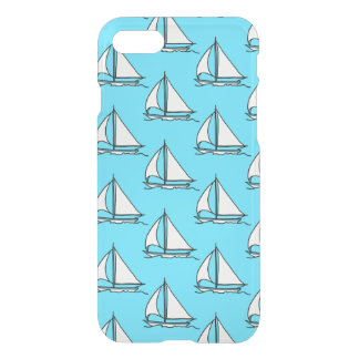 Sailboats On Blue Sea Pattern iPhone 8/7 Case