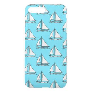 Sailboats On Blue Sea Pattern iPhone 8 Plus/7 Plus Case