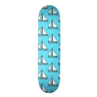 Sailboats On Blue Sea Pattern Skate Decks