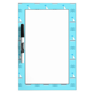 Sailboats On The Blue Sea Pattern Dry Erase Boards
