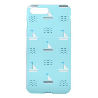 Sailboats On The Blue Sea Pattern iPhone 8 Plus/7 Plus Case