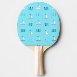 Sailboats On The Blue Sea Pattern Ping Pong Paddle
