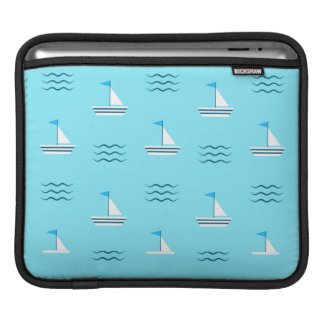 Sailboats On The Blue Sea Pattern Sleeve For iPads