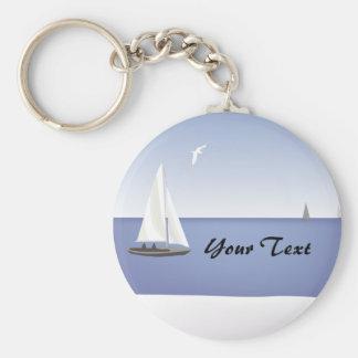 Sailboats on the Horizon Keychain