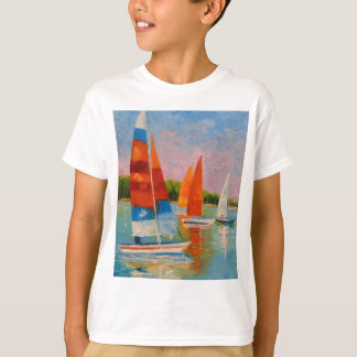 Sailboats on the river T-Shirt
