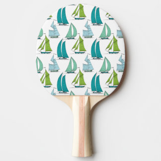 Sailboats On The Water Pattern Ping Pong Paddle