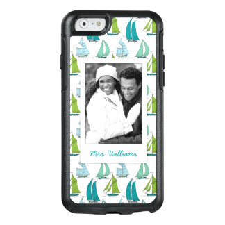 Sailboats On Water Pattern   Your Photo & Name OtterBox iPhone 6/6s Case